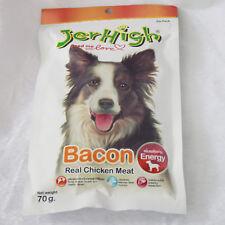 10 pcs*70g JerHigh Chicken Bacon Shape Dog Puppy Treats Snack Energy Bone