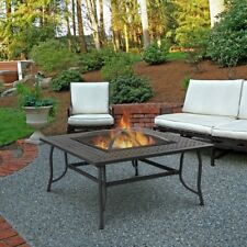 REAL FLAME 930 CHELSEA WOOD BURNING FIRE TABLE 930-SBK