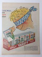 Original Print Ad 1954 KELLOGG'S Variety Pack Look Mom You Can't Miss Artwork
