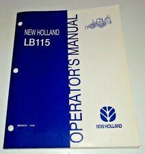 New Holland Lb115 Tractor Loader Backhoe Operators Owners Manual Original 1098