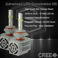 360 Degree Beam - New Gen CREE LED 6400LM Head Light Kit 6k 6000k - 9006 HB4 (B)