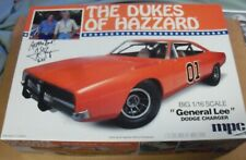 Tom Wopat, Dukes of Hazzard, Signed General Lee Model, 1/16, MIB, w/Show Flyer