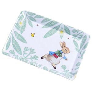Peter Rabbit Tray Daisy Scatter Melamine Beatrix Potter Stow Green 22 x 16cm