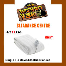 Heller Single Tie Down Electric Blanket+3 Heat Settings/Washable EBST-BRAND NEW