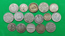 Lot of 16 Mixed World Foreign Old Silver Coins 1916-1967 Decent Group !!