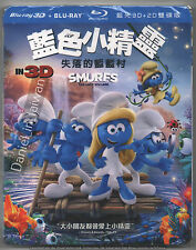 Smurfs The lost village 2017 TAIWAN 3D & 2D BLU RAY w/ SLIPCOVER SEALED