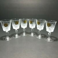 """VTG Cristal D'arques Crystal Stemware Clear Glass Cordial 3 3/4"""" Tall Lot Of 6"""