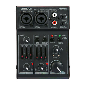 Audio Mixer Mixing Console Sound Card for Home Studio Recording DJ Network Live