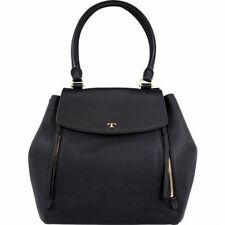 Tory Burch Women's Half-Moon Large Black Leather Women's Handbag New!