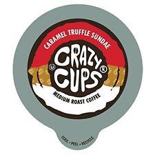 Crazy Cups Caramel Truffle Sundae Flavored Coffee Single Serve cups for Keurig K