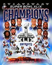 New England Patriots SUPER BOWL XLIX CHAMPS 2015 10-Player Premium Poster Print