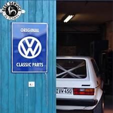"""Original VW Blechschild - """"VW Classic Parts"""" - blau - VW Retro - KFZ - Auto"""