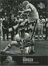 scarce LOU GROZA (1924-2000) Autographed 1997 Upper Deck NFL Legends Card #AL-37