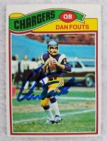 Dan Fouts 1977 Topps Signed Autograph Auto Card #274 San Diego Chargers HOF QB