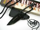 Schrade SCHF5N Tactical Black Full Tang Straight Fixed Neck Knife + Sheath