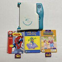 Original Leapfrog LeapPad Learning System W/ 3 Books 2 Cartridges Spider-Man