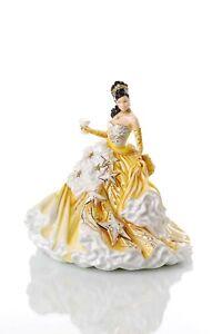 English Ladies Congratulations Gold Figurine