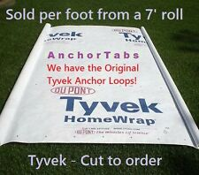Hiking Backpacking 7' Tyvek Ground Sheet Tent Footprint Camp Tarp + Anchor loops