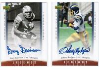 2006 Johnny Rodgers & Gary Garrison Upper Deck Legends Autograph Auto - Chargers