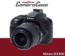 Protective Black Silicone Armor for Nikon D3300 by easyCover camera case