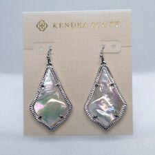 New Kendra Scott Alex Drop Earrings in Ivory Pearl / Silver