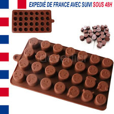 MOULE SILICONE ALIMENTAIRE 28 FORMES EMOJI SMILEY DECO DIY CHOCOLAT PATE A SUCRE