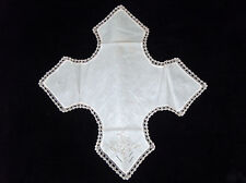 "Vtg Off White Embroidered 24"" Floral Hot Roll Dinner Table (thanksgiving) Cover"
