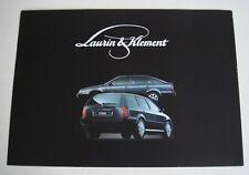 Skoda . Laurin & Klement . September 1998 Sales Brochure