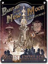 Blast off! New Moon Rocket Steampunk Gothic Alchemy Empire, Small Metal/Tin Sign