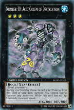 3x (M/NM) Number 30: Acid Golem of Destruction - REDU-ENSE2 - Super Rare - Limit