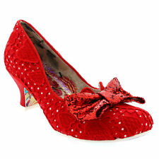 Textile Cuban Heels for Women
