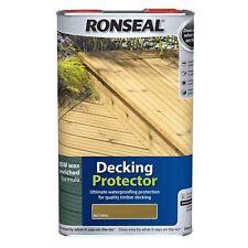 Ronseal Decking Protector Garden Patio Waterproof Sun Rain Protection Natural 5L