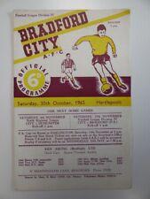 More details for bradford city v hartlepools | 1965/1966 | div. 4 | 30 oct 1965 | uk freepost