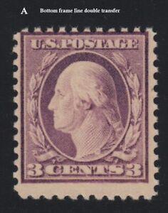 1919 Washington Sc 501 3c violet MNH double transfer of frame line CV $24 NH (A