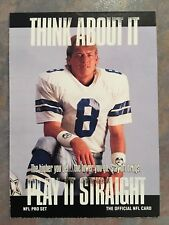1991 Pro Set Football Card #372 Troy Aikman Dallas Cowboys NM/MT