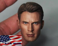 1/6 Chris Evan Captain America 5.0 Head Sculpt Custom For Hot Toys Figure ❶USA❶