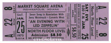 1  LED ZEPPELIN VINTAGE UNUSED FULL CONCERT TICKET 1975 Indianapolis, Indiana