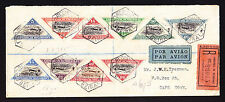 Portugal Mozambique Airmail Triangular stamps on Registered cover to Cape Town