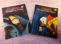 Singer Reference Library Books Timesaving Sewing + Sewing for the Home VTG Lot/2