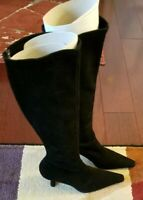 Stuart Weitzman Bootiful size M6.0 Black suede knee-high heeled boots