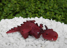 Miniature Dollhouse FAIRY GARDEN ~ Sleepy RED Mini Dragon Figurine ~ NEW
