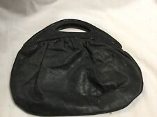 RARE VINTAGE MR CHRISTIAN SMALL BAG BLACK COLOUR LEATHER HAS A FEW MARKS