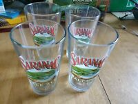 Saranac Brewery Pint Glass  Brewing Beer 4x