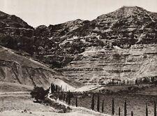 1925 Vintage MOUNT QUARANTANA Road Monastery Landscape ISRAEL Palestine Religion