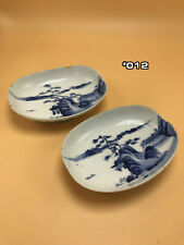 Ceramic China Antique - Porcelain Cobalt Blue Dishes