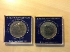 2 Royal Wedding of Charles & Diana 1981 Commemorative Coins. BU. Plastic Cases