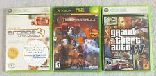 Lot of 3 XBOX XBOX 360 Games GTA GRAND THEFT AUTO 4 Mechassault ARCADE UNPLUGGED
