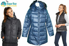 NIKE AD ATHLETIC DEPT THERMORE long Puffa Parka FEMMES VESTE BLEU
