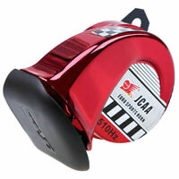 Red 110dB 510Hz Loud Snail Air Horn for Motorcycle Scooter Car Truck Bike Boat