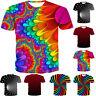 Men/Women Funny 3D Print Short Sleeve T-shirt Summer Casual Graphic Tee Tops